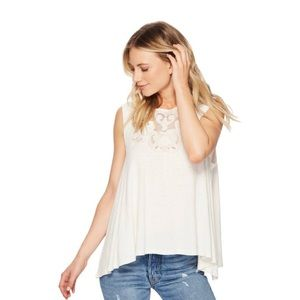 Free People Meant To Be Embroidered Swing Tank Top